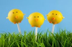 Kid's Party Food Ideas Easter Cake Pops Baby Chicks