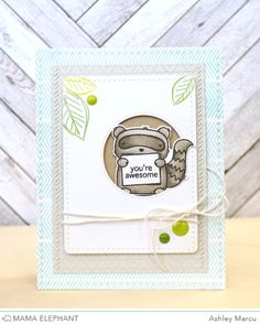 Three Aimigos with Ashley (mama elephant Baby Scrapbook, Scrapbook Cards, Mama Elephant Stamps, Scrapbooking, Animal Cards, Card Tags, Paper Cards, Kids Cards, Amigos