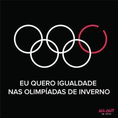 """A Liga Gay: All Out faz campanha contra lei """"Anti-gay"""" russa no Jogos Olímpicos de inverno"""