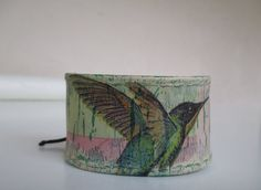 "Leather Wristband ""Fly Away"""