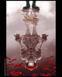 "800lbproductions: ""You'll float too. @itmovieofficial #ITMovie #ITFanArtContest #Pennywise #StephenKing #StephenKingIT #IT #Clowns #Horror #800poundproductions #digitalart #horrorart..."
