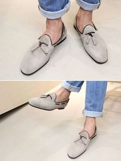 swoon-worthy suede shoes for the tassel lovers Nice; Suede Shoes, Men's Shoes, Shoe Boots, Dress Shoes, Fashion Moda, Men's Fashion, Fashion Shoes, Mein Style, Best Shoes For Men