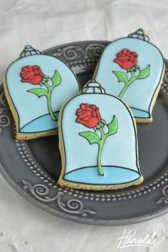 Haniela's: Enchanted Rose Cookies from Beauty and The Beast
