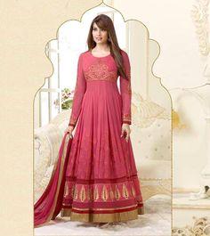 Perfect Pink Anarkali Suit