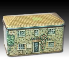 """VINTAGE TIN """"THE SWEETSHOP"""" HOUSE SHAPED LOCAL BRICK BUILT LITHO CONTAINER"""