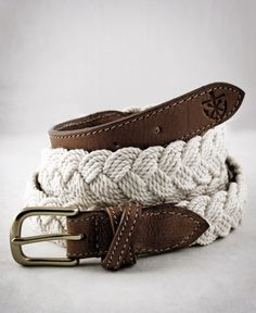 Nautical woven belt