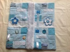 Twiddle Fidget Memory/Busy/Sensory Lap Blanket, Alzheimer's/Dementia/Elderly
