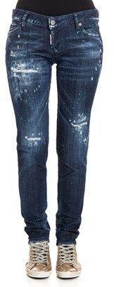 DSQUARED2 Women's Blue Cotton Jeans.