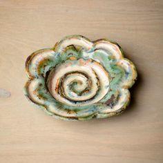 Etta B Pottery - Flower Dish - Blue