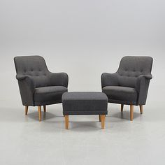 carl malmsten armchair and ottoman.