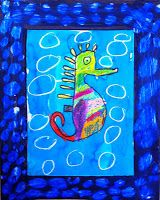 Art Projects for Kids: Mixed Media Seahorse