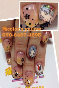 夏目友人帳(Natsume's Book of Friends) : Character nail art