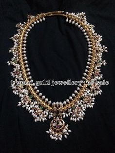 Indian Jewellery Designs: Silver Guttapusalu Sets with Earrings