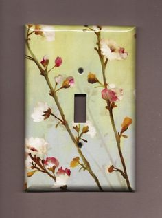 Oversized 35 x 525 Branches of Blossom Switchplate by TurnMeOnArt, $11.00