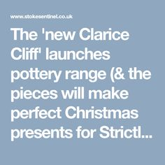 The 'new Clarice Cliff' launches pottery range (& the pieces will make perfect Christmas presents for Strictly Come Dancing fans) - Stoke Sentinel