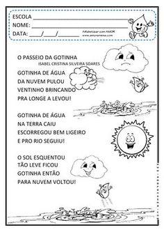 Alfabetizar com AMOR: O PASSEIO DA GOTINHA! INTERDISCIPLINAR/ CICLO DA ÁGUA / 1º ANO