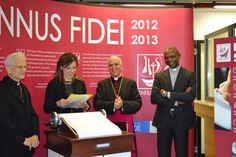 Inaugurazione/Inauguration #FaithScroll - Card. Raffaele Farina, Elena Grazini, Mons. Rino Fisichella, Padre Caesar Atuire