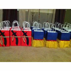 Knight & Snow White Party Bags