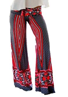 e775ef1f31a80 ForeverGod Womens Simple Printed Classic Causal Wide Leg Palazzo Pants  >>>