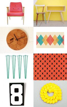Mid-century modern pop up! by HuesShop on Etsy--Pinned with TreasuryPin.com