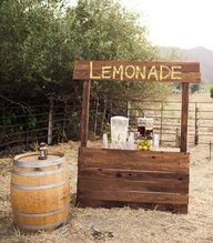Sweet, country-style, wooden lemonade stand | Photo by Ken Kienow Photography