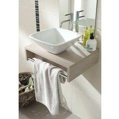 Plan lave mains Evasion sans vasque  -  Bois clair - Lapeyre