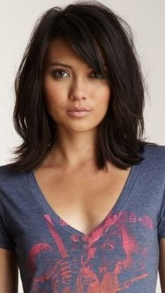 Image result for medium length hairstyle with side bangs over forty