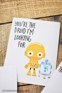 Free Printable Star Wars Valentines Day Card | Wit & Wander