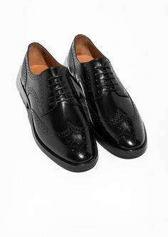 & Other Stories image 2 of Lace-up Leather Brogue  in Black