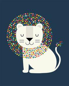 animal art projects - As A Lion By Andy Westface Canvas Art Multi Cute Lion, Lion Print, Cute Illustration, Nursery Art, Canvas Artwork, Framed Canvas, Framed Prints, Framed Wall, Canvas Art Prints