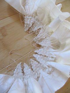 Amanda Poole - Gathered Shibori by Fabric Dyeing Techniques, Tie Dye Techniques, Textiles Techniques, Fabric Painting, Fabric Art, Fabric Crafts, Shibori Fabric, Shibori Tie Dye, Dyeing Fabric