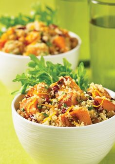 Warm Butternut Squash Salad with Crispy Chickpeas