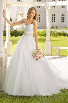for a dress with straps this is a Beautiful wedding dress
