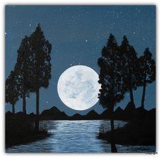 Acryl/Leinwand 50 cm x 50 cm x 1,5 cm Preis auf Anfrage  Magical Moon