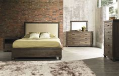 The City Modern Platform bed is rustic and filled with character. It would fit well into rustic and urban dwelling trying to capture the shabby chic look.