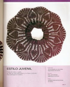 Ganchillo y dos Agujas: Falda con ruedo en abanico