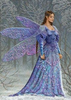 Very pretty artwork, but woman is too heavy/solid-looking to be faerie blood.