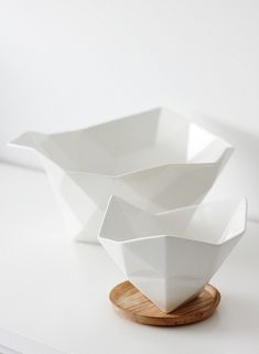 Porcelain -- Normann Copenhagen, large and small crushed bowl