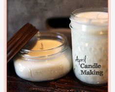 Candle Making - lots of other great DIY gift ideas on this blog.
