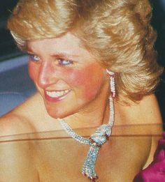 Diana's Ruby and Diamond Tassel Necklace