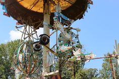 Whirligigs are hand-made, wind-driven works of art created by Vollis Simpson of Wilson County.
