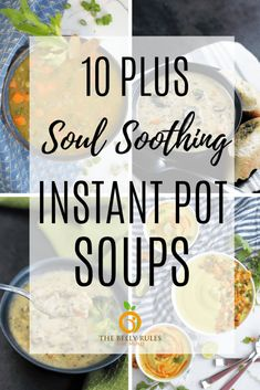 Instant Pot Soup Recipes make a perfect one pot weeknight meals. These soups are easy to make in an Instant Pot but they are nutritious, healthy and soul soothing. Irrespective of the weather outside, we have a soup for every season. Instant Pot Pressure Cooker, Pressure Cooker Recipes, Slow Cooker, Vegan Pumpkin Soup, Vegan Soup, Easy Starters, Cauliflower Soup Recipes, Stove Top Recipes, Vegetarian Recipes