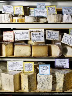 I love cheeses displayed in different ways!