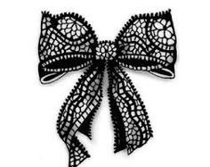 lace bow drawing - Google Search