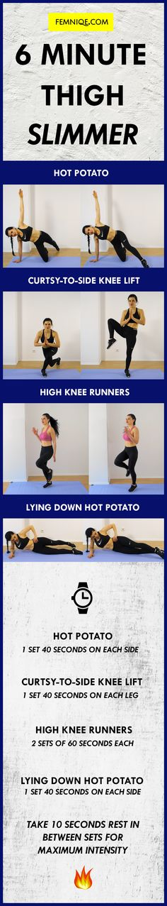 50a527e5042a09 Use this quick thigh slimming workout when you re crunched for time! Tone  those
