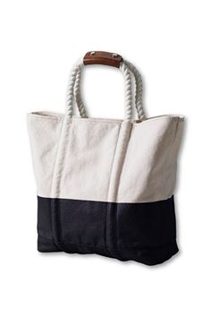 rope handle nautical tote from land's end