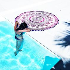 COMING SOON TO OUR WEB OMBRÈ MANJARI TOWEᒪ Finally!! Round TOWEL mandalas