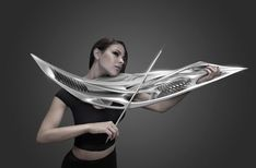 This futuristic violin, will be debuted next month at the Print Design Show in New York. The Piezoelectric violin created by… Futuristic Technology, Futuristic Design, Technology Gadgets, Tech Gadgets, Impression 3d, Electric Violin, Sci Fi Weapons, 3d Printing Technology, Technology Design