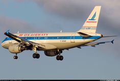 US Airways, A319, retro Piedmont Airlines Livery
