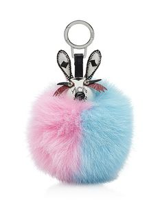 510.00$  Buy here - http://viidh.justgood.pw/vig/item.php?t=bdvtl8q35830 - MCM Rabbit Fox Fur Bag Charm 510.00$